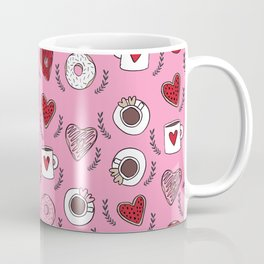 Valentines donuts and coffee cute gifts for love valentine andrea lauren Coffee Mug