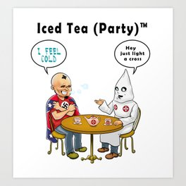 Iced Tea Party Art Print