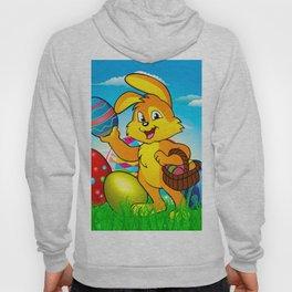 Easter bunny rabbit with Easter basket Hoody