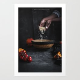 Rice and Hands Art Print