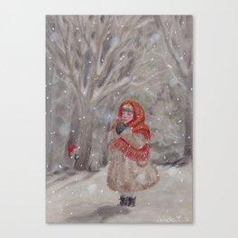 Hiding gnome Canvas Print