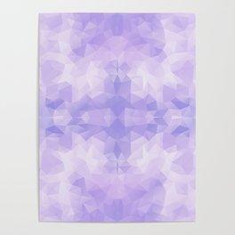 Light purple geometric design Poster