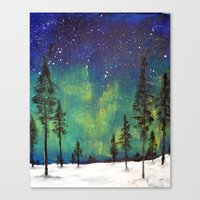northern lights Canvas Prints featuring Northern Lights by Ruth Oosterman