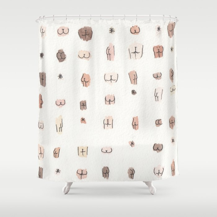 butts Shower Curtain by juliaheffernan | Society6