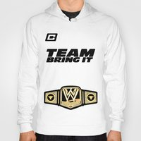 wwe Hoodies featuring Team Bring It The Rock WWE by ems23