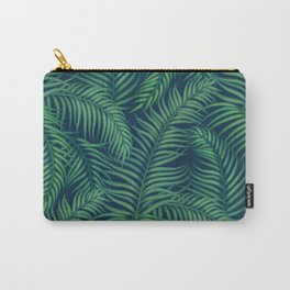Night tropical palm leaves Carry-All Pouch