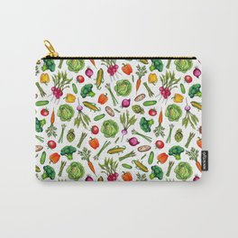 Vegetable Garden - Summer Pattern With Colorful Veggies Carry-All Pouch