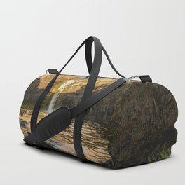 Losing Light - Washington Waterfall Nature Photography Duffle Bag