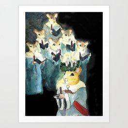 Alighting the Darkness Art Print