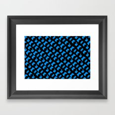 Gamer - Aqua on Black Framed Art Print