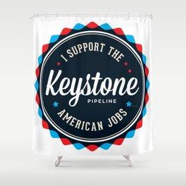 Keystone Pipeline Shower Curtain