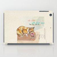 dessert iPad Cases featuring Illustration Friday- Dessert by Jo Cheung Illustration