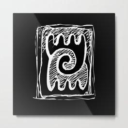 Sheeps, Yin&Yang, line art, sketch, single object Metal Print