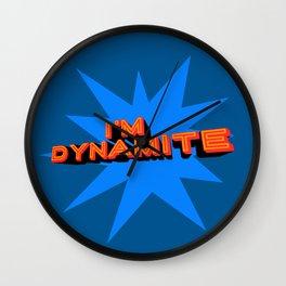 I'm Dynamite (dark blue) Wall Clock