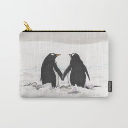 Penguins in love Carry-All Pouch