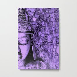Purple Buddha Metal Print