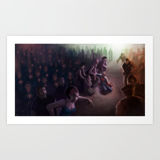 The Vigil: Brooklyn in Flames Art Print