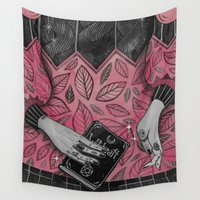 witchcraft Wall Tapestries featuring Witchcraft by lOll3