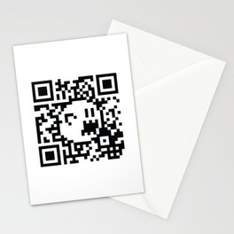 Boo Mario QR Code 8-Bit Stationery Cards