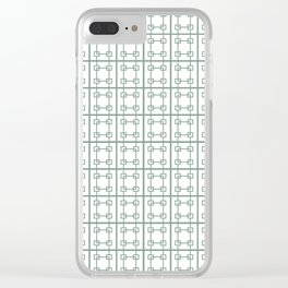Squares PMS 415C Clear iPhone Case