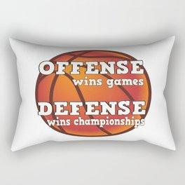 Winning philosophy for team sports (no background) Rectangular Pillow
