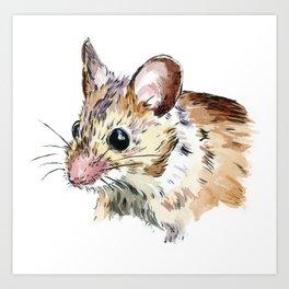 Little Brown Mouse Art Print