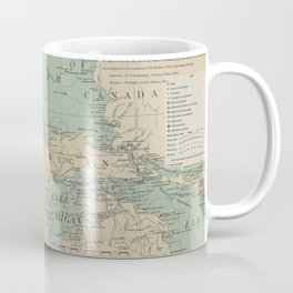 Vintage Great Lakes Lighthouse Map (1898) Coffee Mug