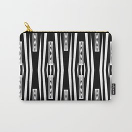 Geometric Black and White Tribal-Inspired Pattern Carry-All Pouch