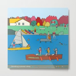 Canoeing Summer Camp Metal Print