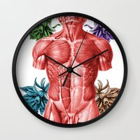 human Wall Clocks featuring HUMAN by MANDIATO ART & T-SHIRTS