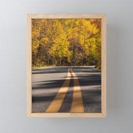 Golden Road Trip // Fall Colors on the Road Framed Mini Art Print