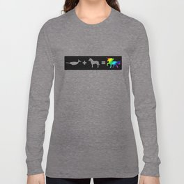 Narwhal + Horse = Unicorn (rainbow) Long Sleeve T-shirt