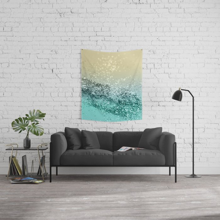Lemon Twist Beach Glitter #2 #shiny #decor #art #society6 Wall Tapestry