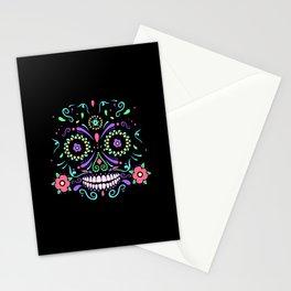 sugar skull dia de los muertos Stationery Cards