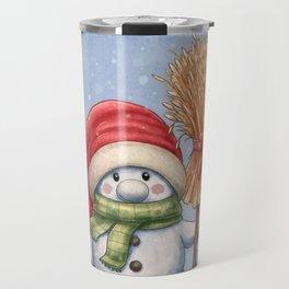 A little snowman Travel Mug