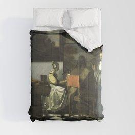 Stolen Art - The Concert by Johannes Vermeer Comforters
