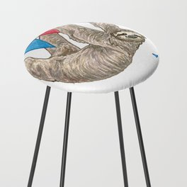 Sloth with Bunting #1 Counter Stool