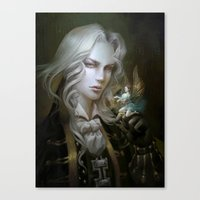 castlevania Canvas Prints featuring Alucard. Castlevania Symphony of the Night by Nell Fallcard