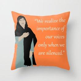 Malala Yousafzai Quote Throw Pillow
