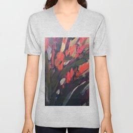 Vibrant Flower Abstract Unisex V-Neck