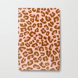 Leopard Print 2.0 - Caramel Blush Metal Print