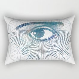 Mandala Vision Flower of Life Rectangular Pillow
