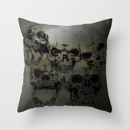 Dark abstract skull Throw Pillow