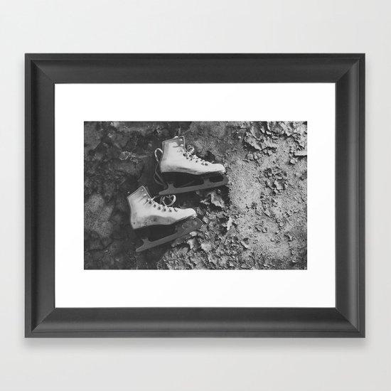 Forgotten Skates Framed Art Print