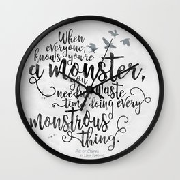 Six of Crows - Monster - White Wall Clock