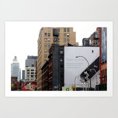 On the streets in NYC Art Print