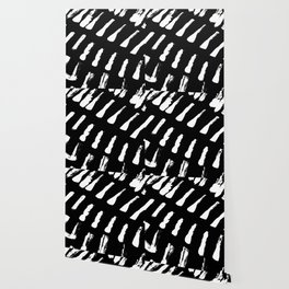 Minimal [2]: a simple, black and white pattern by Alyssa Hamilton Art Wallpaper