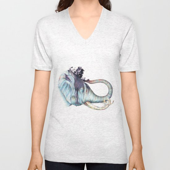 Elephant Shower Unisex V-Neck