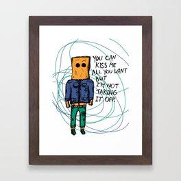 Take It Off Framed Art Print