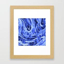 Floating In A Sea Of Blue Framed Art Print